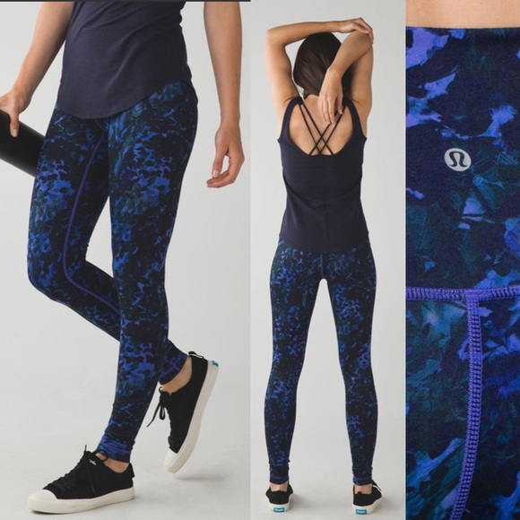 eb16959a5ce9d lululemon athletica Pants | Lululemon Wunder Under Pantluonfloral ...